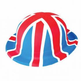 Great Britain Union Jack Plastic Bowler Hat
