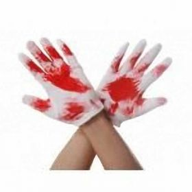 Halloween Gloves with Blood