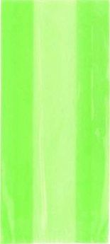 Lime Green Cello Party Bags 30pk
