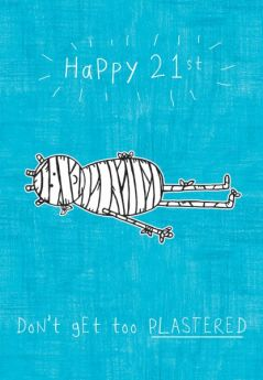 Purple Ronnie Happy 21st Birthday Card
