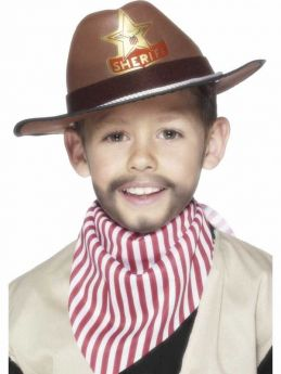 Childrens Sheriff Hat Brown