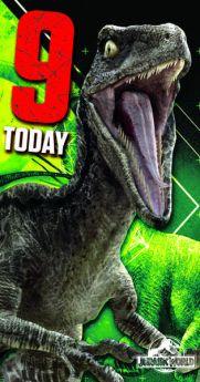 Jurassic World Age 9 Birthday Card