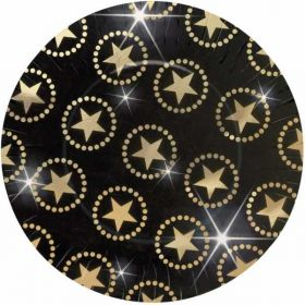 Hollywood Gold Stars Metallic Plates pk8