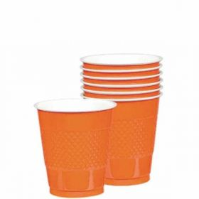 Orange Peel Plastic Cups 20pk