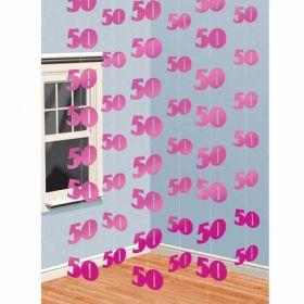 Pink Shimmer 50th String Decoration