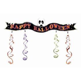 Halloween Ghost 3D Foil Swirl Banner