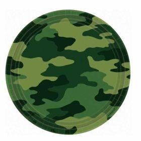 Camouflage Paper Plates 23cm pk8