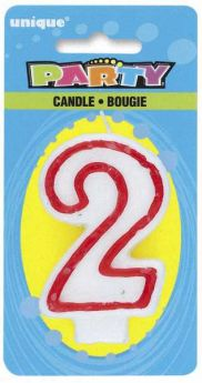 Red & White Party Candle 2