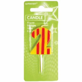 Dots & Stripes Candle Number 2