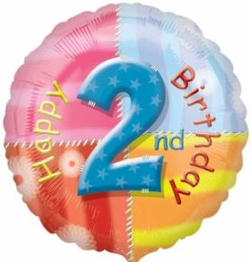 Happy 2nd Birthday Circle Foil Balloon
