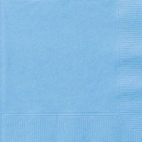 Pastel Blue Lunch Napkins pk20