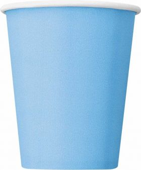 Powder Blue Paper Cups pk14
