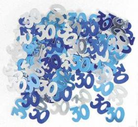 Blue Glitz 30 Party Confetti