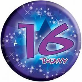16 Today Birthday Badge