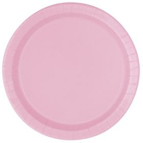 Lovely Pink Paper Party Plates, 9'' pk16