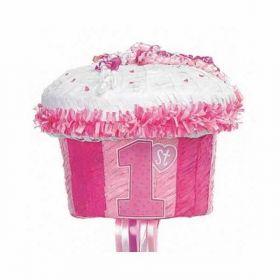 1st Cupcake Pink Party Pinata