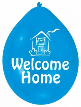 Welcome Home Latex Balloons, pk10