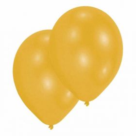 Pearl Gold Latex Balloons pk10, 11""