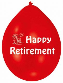 Happy Retirement Latex Balloons, pk10