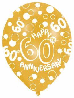 60th Diamond Anniversary balloons, pk6