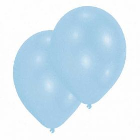 Pearl Powder Blue Latex Balloons pk10