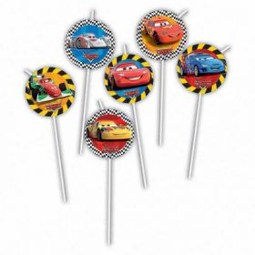 Disney Cars RSN Medallion Flexi Drinking Party Straws 6pk
