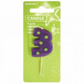 Dots & Stripes Candle Number 3