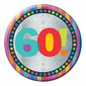 Large Holographic 60th Birthday Badge