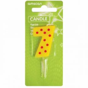 Dots & Stripes Candle Number 7