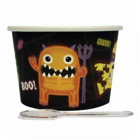 Boo Crew Dessert Pots with Spoons pk12