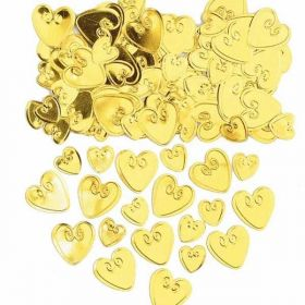 Gold Loving Hearts Embossed Confetti