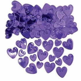 Plum Loving Hearts Embossed Confetti