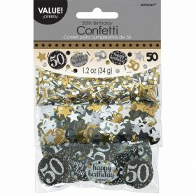Gold Sparkling Celebration 50th Confetti 34g