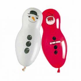 Giant Santa & Snowman balloons pk5