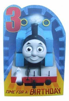 Thomas Age 3 Birthday Card