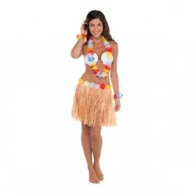 Adult 5 piece Hula Skirt Kit