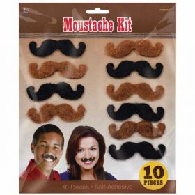 Moustache Kit, 10 pieces