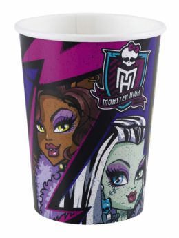 New Monster High Paper Party Cups pk8