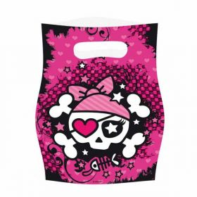 Pink Buccaneer Pirate Party Bags pk6