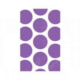 Purple Dots Favour Bags pk10