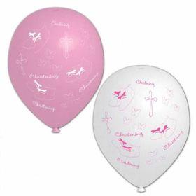 Christening Pink Balloons