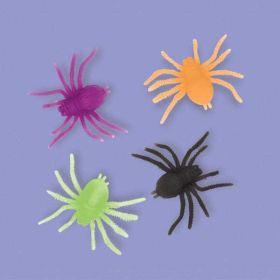 Neon Plastic Spider Favours pk12