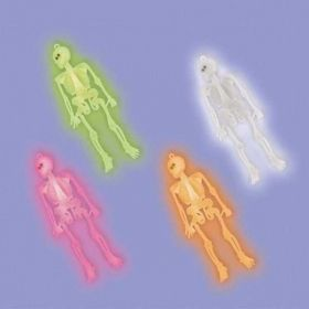 Neon Plastic Skeleton Favours pk12
