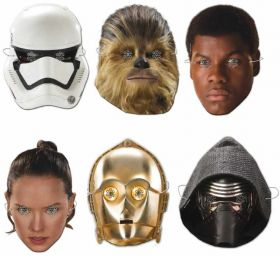 Star Wars Force Awakens Masks pk6