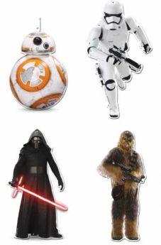 Star Wars Cutouts, 30cm pk4