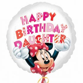Minnie Mouse Happy Birthday Daughter Standard Foil Balloon