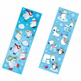 Holiday Favour Sticker Strips pk8