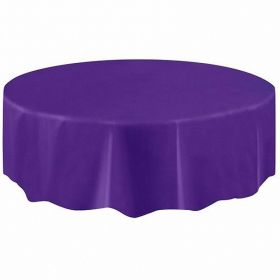 New Purple Plastic Round Plastic Tablecovers 2.13m
