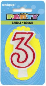 Red & White Party Candle 3