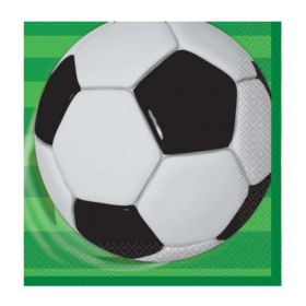 3D Soccer Party Napkins, pk16